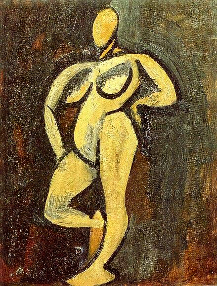 1908 Nu debout2. Pablo Picasso (1881-1973) Period of creation: 1908-1918