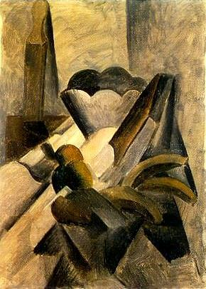 1909 Nature morte au cuir Е rasoir. Pablo Picasso (1881-1973) Period of creation: 1908-1918