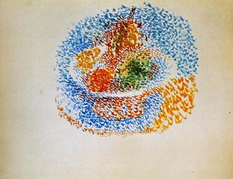 1917 Compotier avec fruits. Pablo Picasso (1881-1973) Period of creation: 1908-1918