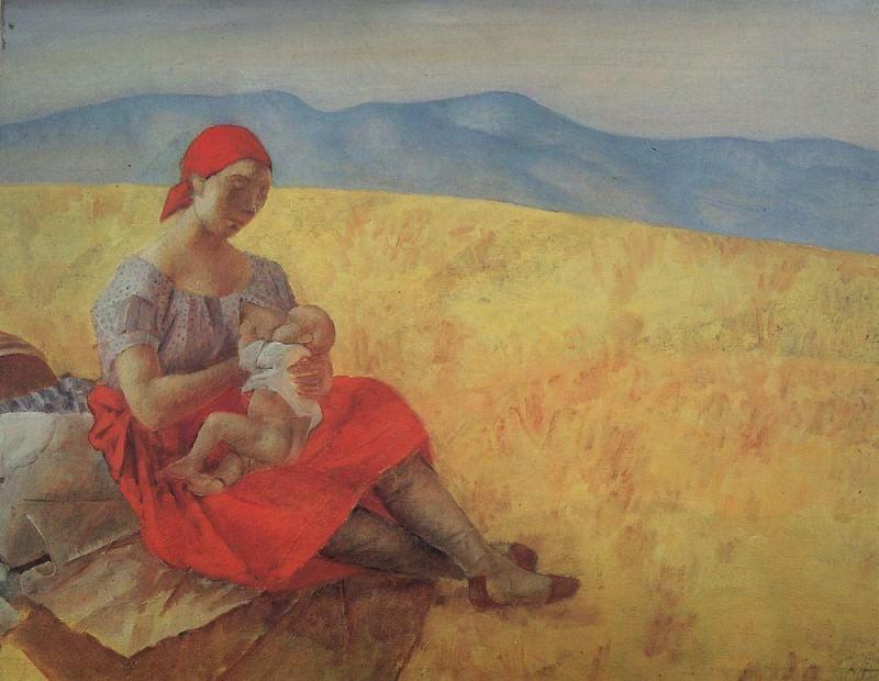 Mother 2. 1913. Kuzma Sergeevich Petrov-Vodkin