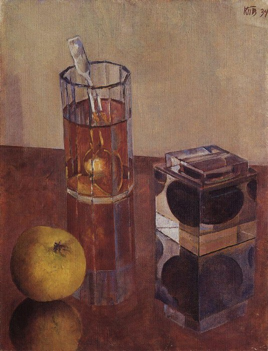 Still Life with inkwell. 1934. Kuzma Sergeevich Petrov-Vodkin