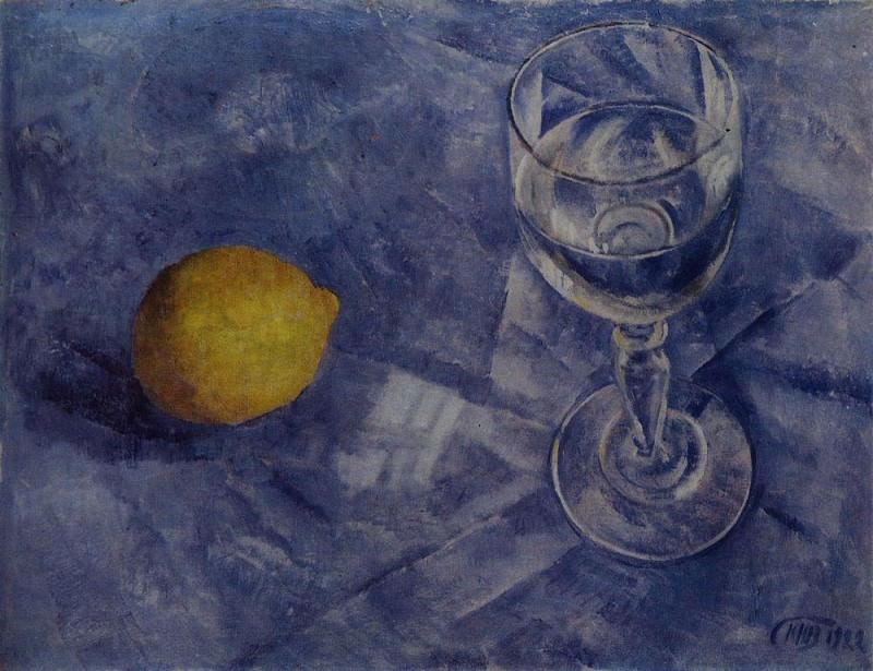 Glass and lemon. 1922. Kuzma Sergeevich Petrov-Vodkin