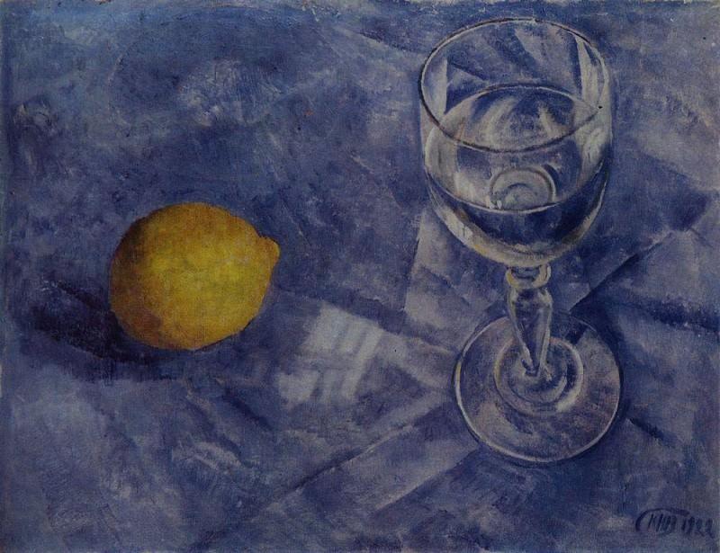 Бокал и лимон. 1922. Петров-Водкин Кузьма Сергеевич