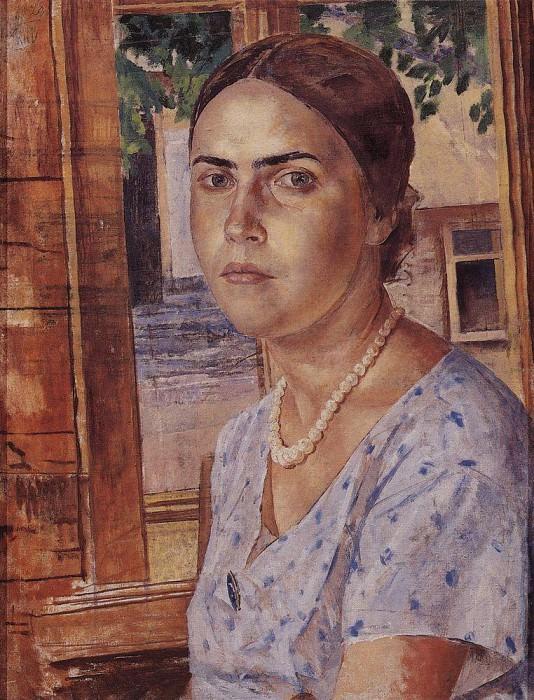 Girl at the window. 1928. Kuzma Sergeevich Petrov-Vodkin