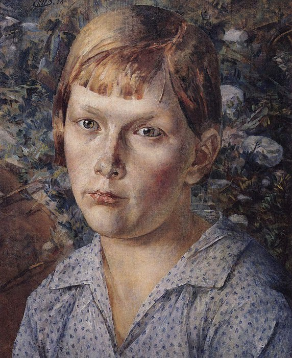 Girl in the woods. 1938. Kuzma Sergeevich Petrov-Vodkin