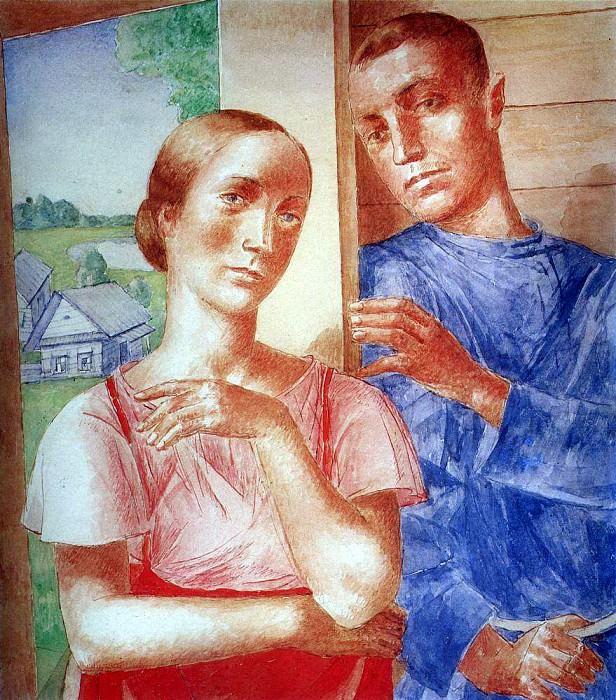Spring in the village 2. 1929. Kuzma Sergeevich Petrov-Vodkin