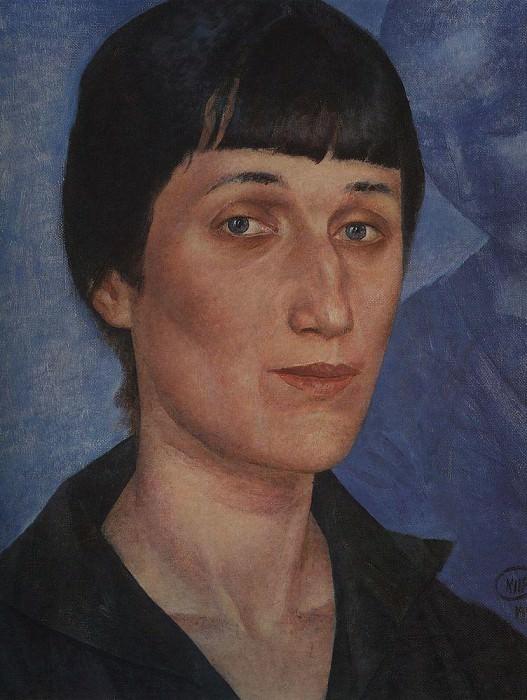 Portrait of Anna Akhmatova. 1922. Kuzma Sergeevich Petrov-Vodkin