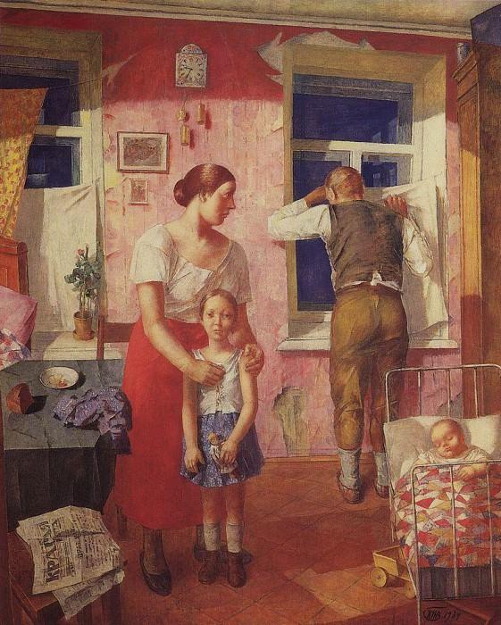 1919. Anxiety. 1934. Kuzma Sergeevich Petrov-Vodkin