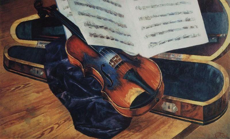 Violin. 1916. Kuzma Sergeevich Petrov-Vodkin