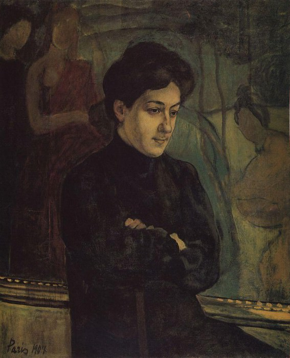 Portrait MF Petrova - Vodkin. 1907. Kuzma Sergeevich Petrov-Vodkin