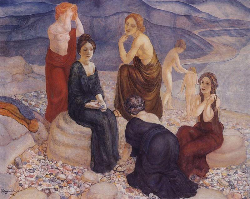 Beach. 1908. Kuzma Sergeevich Petrov-Vodkin