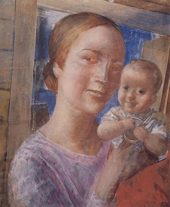 Мать и дитя. 1927. Петров-Водкин Кузьма Сергеевич