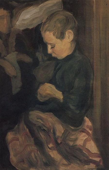 Boy. 1900 e. Kuzma Sergeevich Petrov-Vodkin