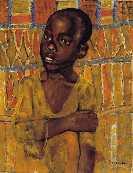 African boy. 1907. Kuzma Sergeevich Petrov-Vodkin