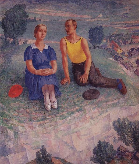 Spring. 1935. Kuzma Sergeevich Petrov-Vodkin