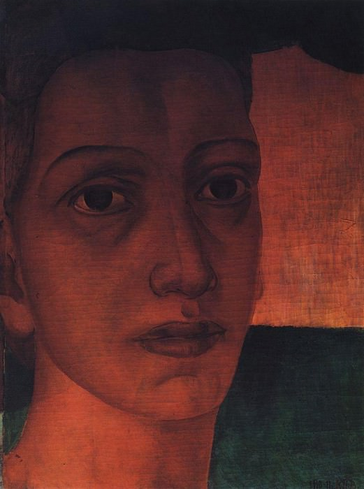 Monumental head. 1910-1911. Kuzma Sergeevich Petrov-Vodkin