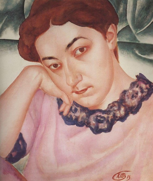 Portrait MF Petrova - Vodkin. 1913. Kuzma Sergeevich Petrov-Vodkin