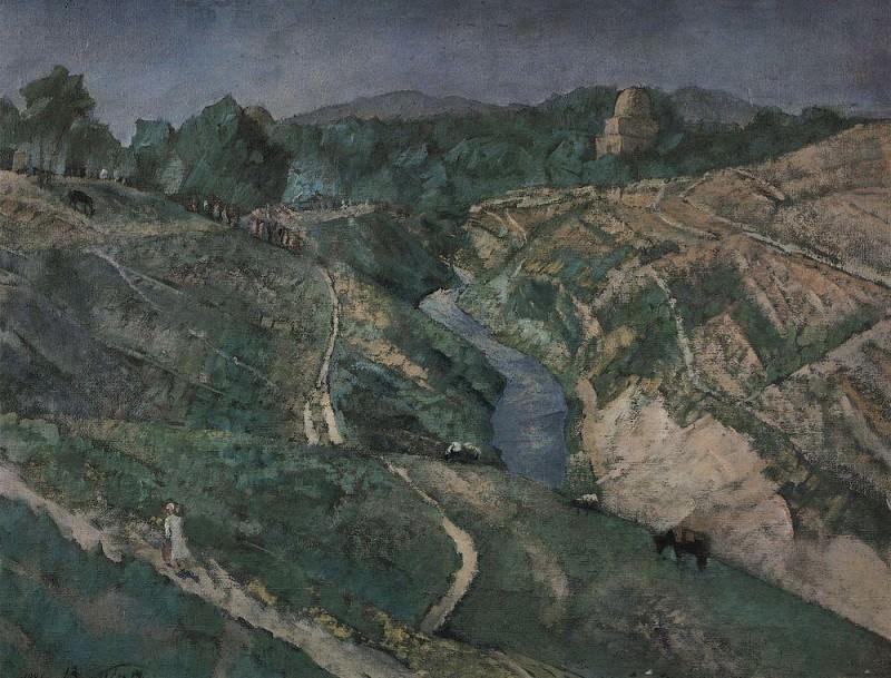 Samarkand. Rukhabad. 1921. Kuzma Sergeevich Petrov-Vodkin