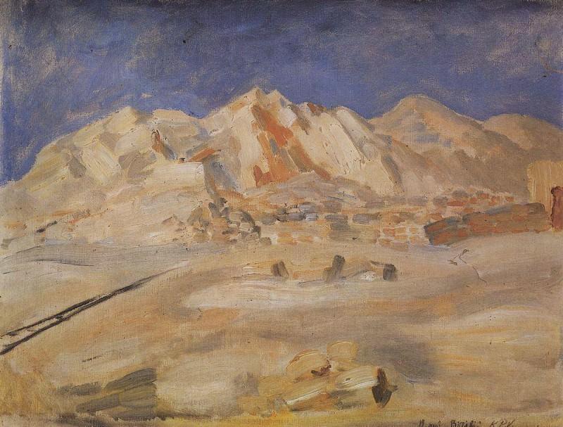 Biribi. Africa. 1907. Kuzma Sergeevich Petrov-Vodkin