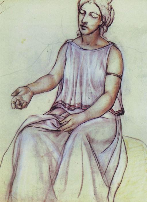 A woman in a chiton. 1910. Kuzma Sergeevich Petrov-Vodkin