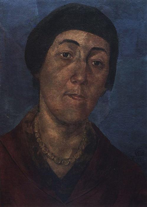 Portrait MF Petrova - Vodkin, wife of the artist. 1922. Kuzma Sergeevich Petrov-Vodkin
