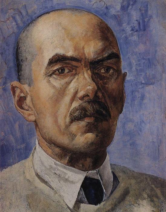 Self-portrait. 1929. Kuzma Sergeevich Petrov-Vodkin
