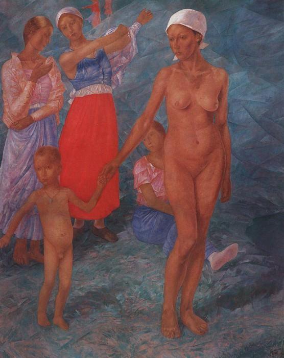 Morning. Bathers. 1917. Kuzma Sergeevich Petrov-Vodkin