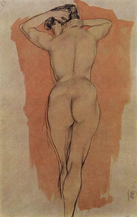 Artists Model from the back. 1906. Kuzma Sergeevich Petrov-Vodkin