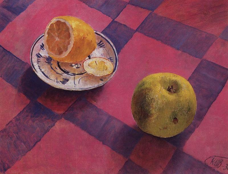 Яблоко и лимон. 1930. Петров-Водкин Кузьма Сергеевич