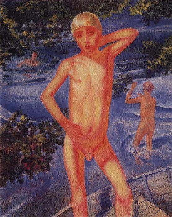 bathing boys. 1926. Kuzma Sergeevich Petrov-Vodkin