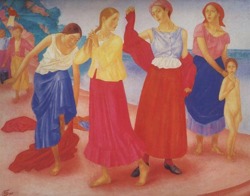 Girls on the Volga. 1915. Kuzma Sergeevich Petrov-Vodkin
