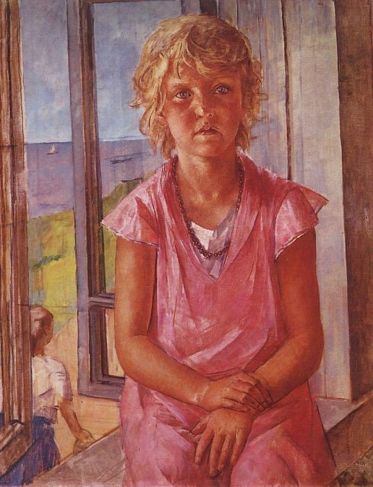 Daughter of a fisherman. 1936. Kuzma Sergeevich Petrov-Vodkin