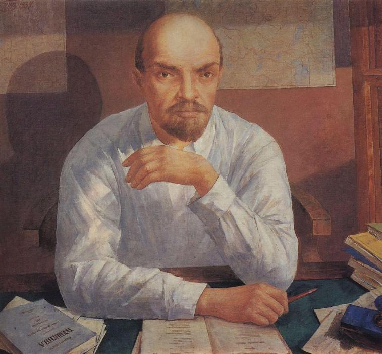 Portrait of VI Lenin. Kuzma Sergeevich Petrov-Vodkin