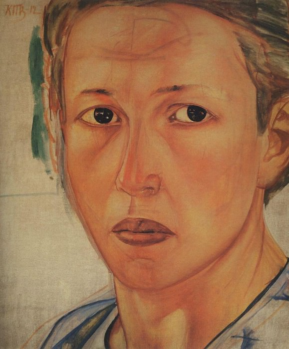 Portrait of Grekova (Kozachka). 1912. Kuzma Sergeevich Petrov-Vodkin