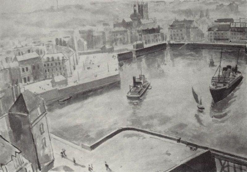 Port of Dieppe. 1929. Kuzma Sergeevich Petrov-Vodkin