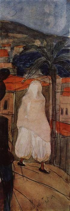 In the veil. Africa. 1907. Kuzma Sergeevich Petrov-Vodkin