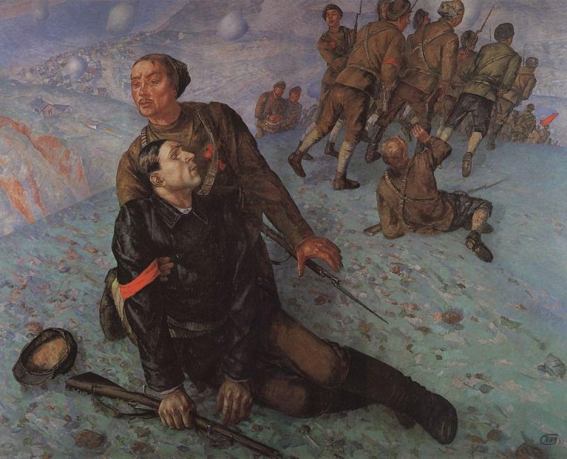 Death Commissioner. 1928. Kuzma Sergeevich Petrov-Vodkin