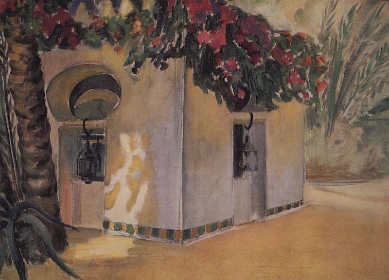Garden Benevento. Sahara. 1907. Kuzma Sergeevich Petrov-Vodkin