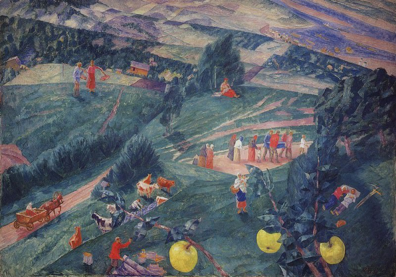 Noon. Summer. 1917. Kuzma Sergeevich Petrov-Vodkin