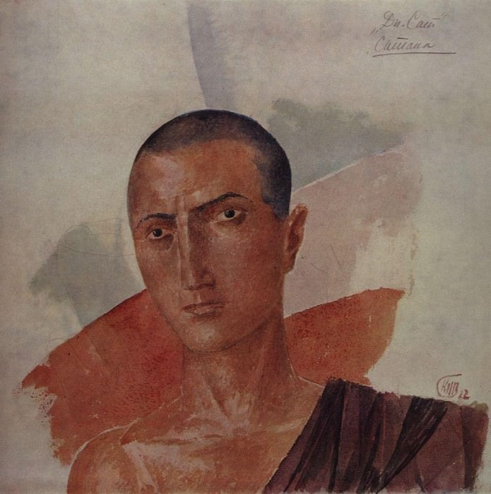 Sketch makeup to a dramatization of Satan Satans Diary (by L. Andreev). 1922. Kuzma Sergeevich Petrov-Vodkin