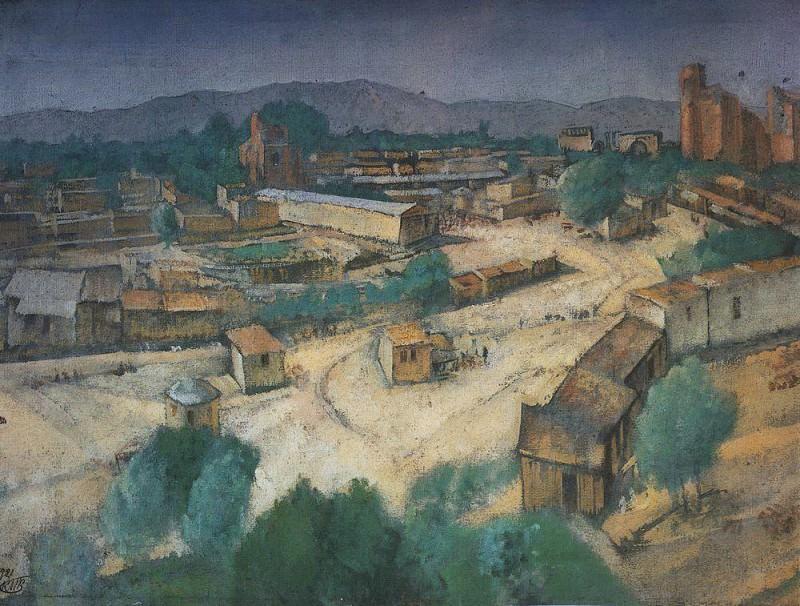 Вид Самарканда. 1921. Петров-Водкин Кузьма Сергеевич