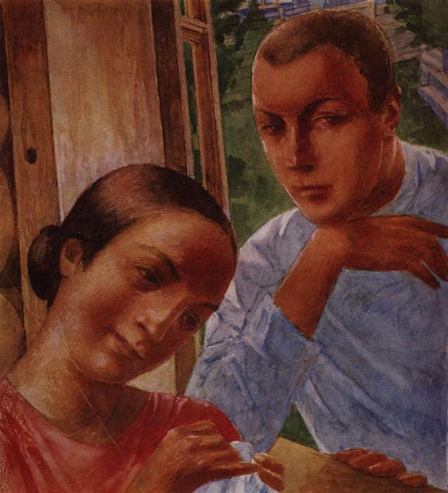 Весна в деревне1. 1929. Петров-Водкин Кузьма Сергеевич