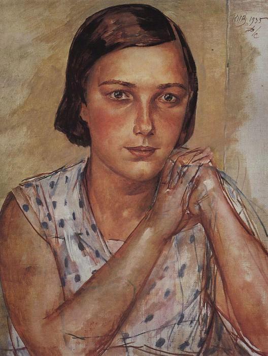 Portrait of the artists daughter. 1935. Kuzma Sergeevich Petrov-Vodkin