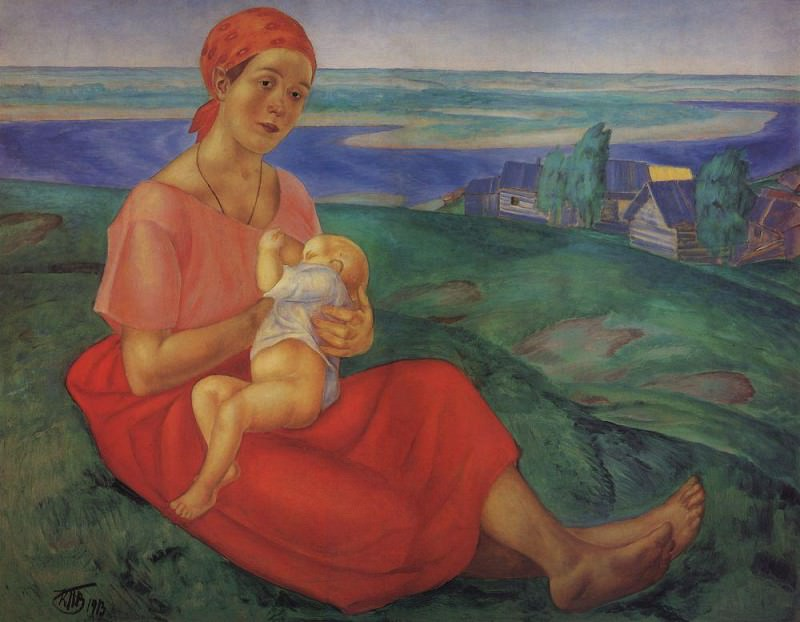 Mother 1. 1913. Kuzma Sergeevich Petrov-Vodkin