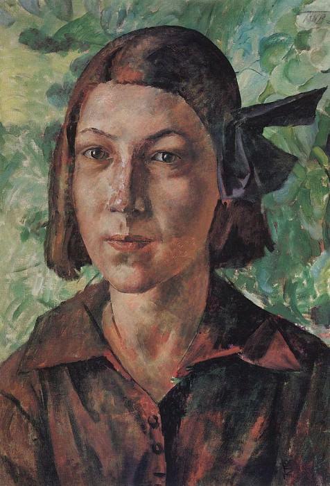 Girl in the garden. 1927. Kuzma Sergeevich Petrov-Vodkin