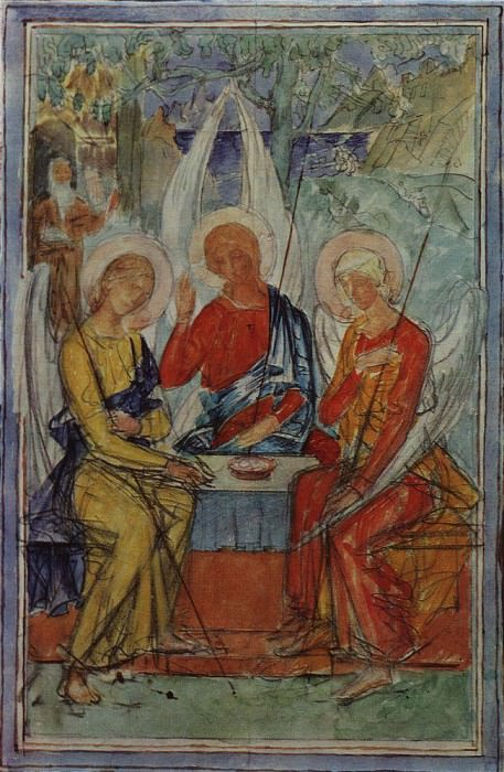 Trinity. 1915. Kuzma Sergeevich Petrov-Vodkin