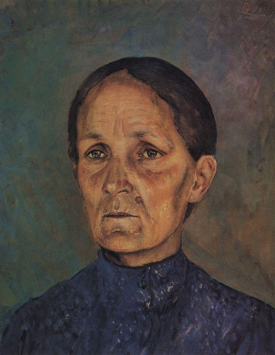 Portrait AP Petrova - Vodkin, mother of the artist. 1909. Kuzma Sergeevich Petrov-Vodkin