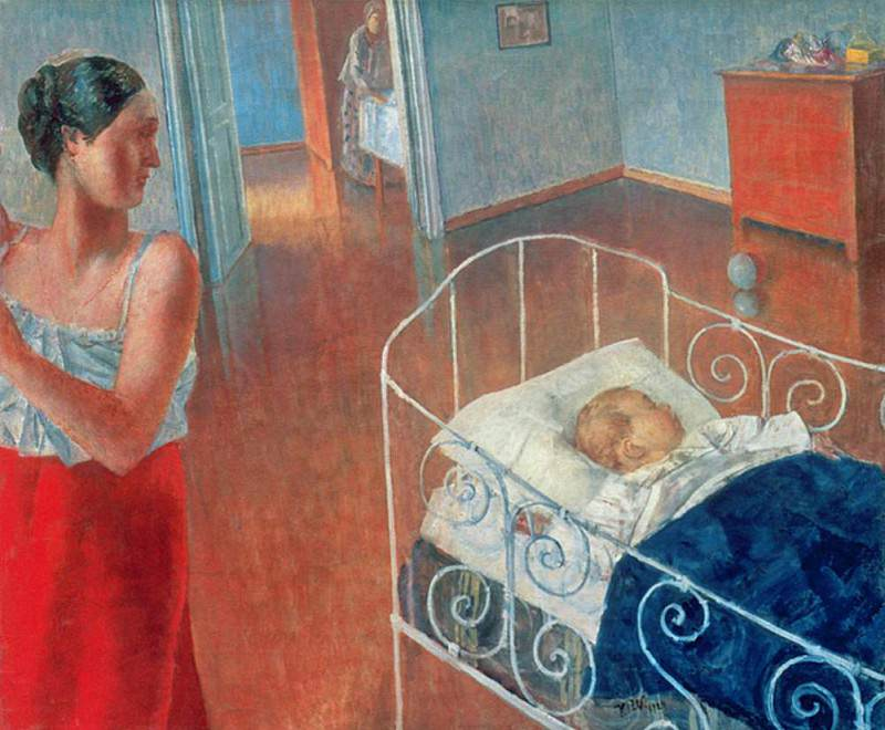 Sleeping Child. Kuzma Sergeevich Petrov-Vodkin