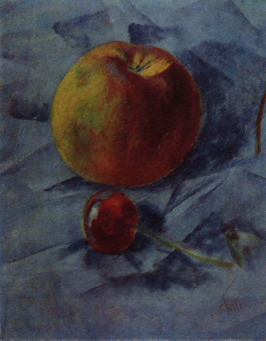 apple and cherry. 1917. Kuzma Sergeevich Petrov-Vodkin