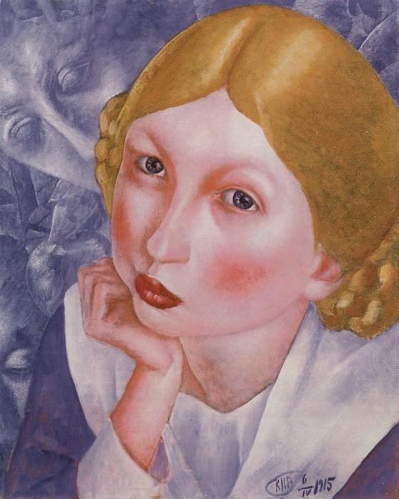 Portrait Rhee (Portrait of AA Kholopova). 1915. Kuzma Sergeevich Petrov-Vodkin